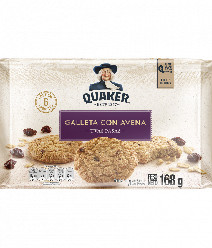 Galleta Quaker Uvas Pasas
