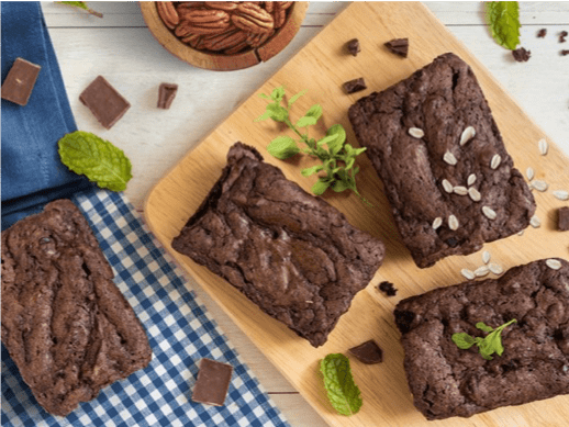 Brownie fit de aveia