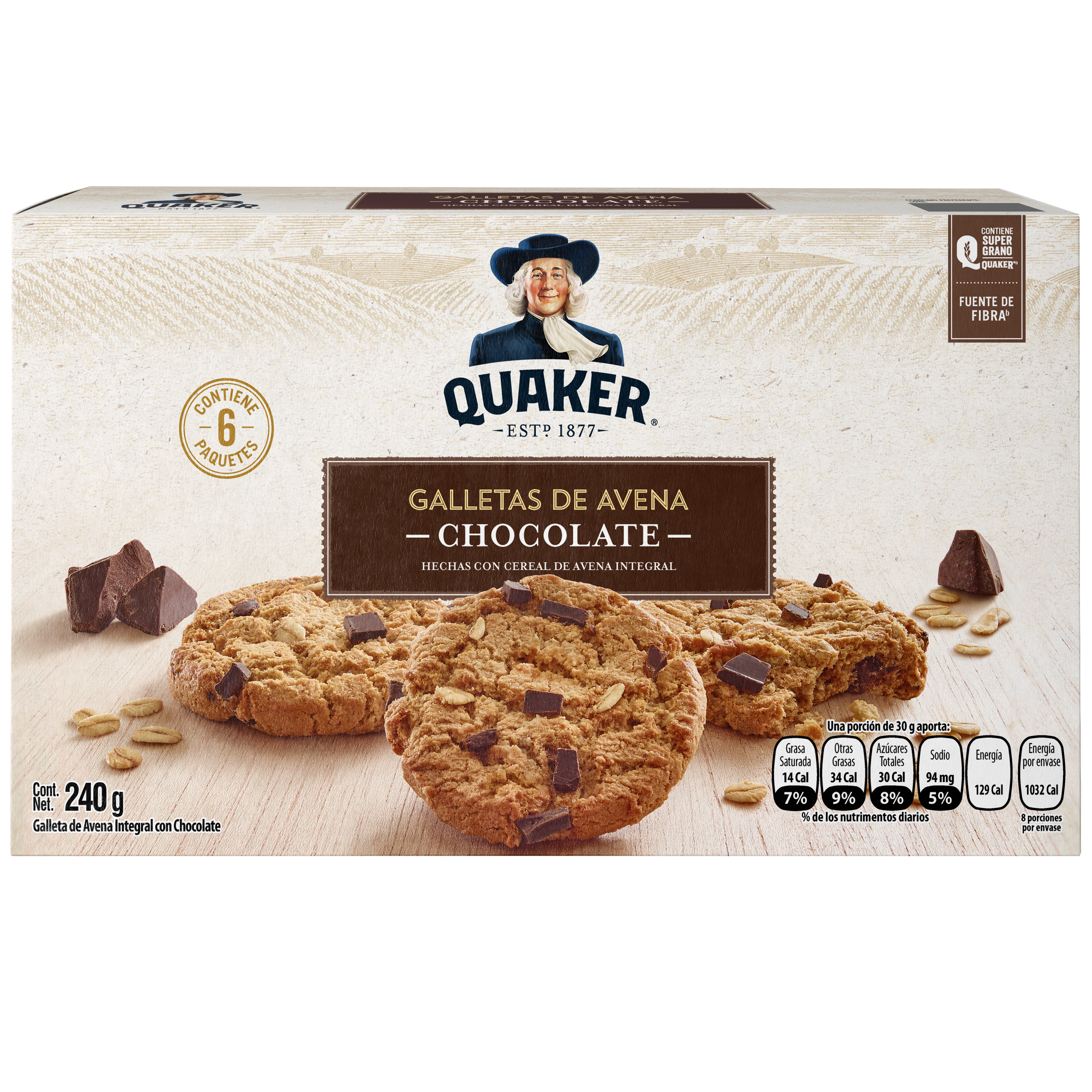 Quaker<sup>®</sup> Galleta de Avena Chocolate