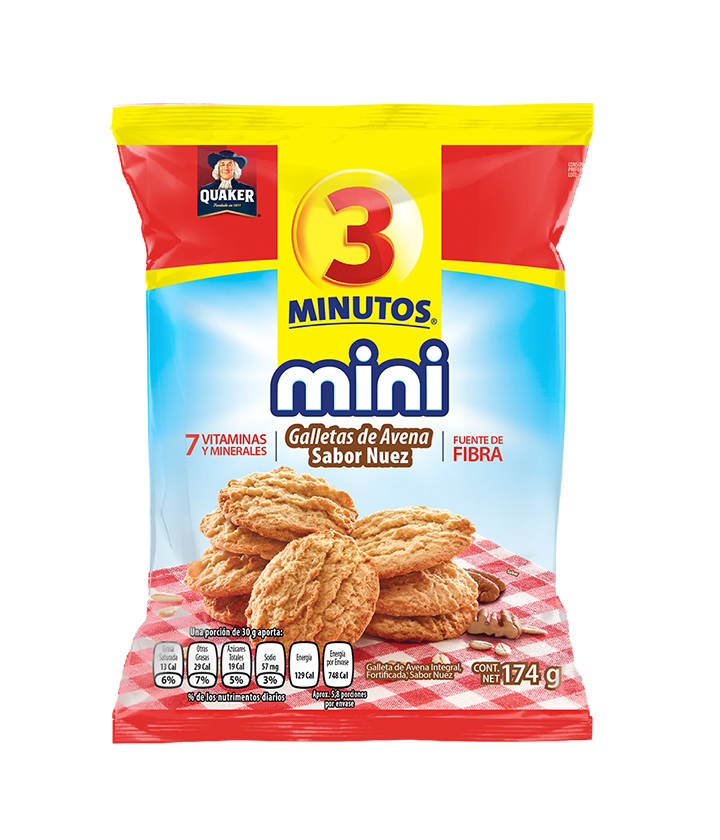 Quaker<sup>®</sup> 3 Minutos<sup>®</sup> MINI Galletas de Avena