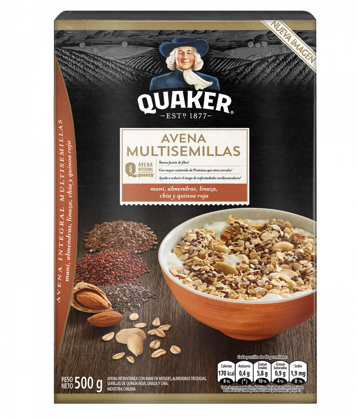 Quaker® Avena Multisemillas y Frutos Secos