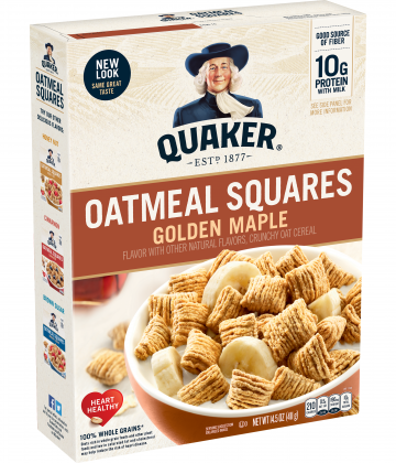 Quaker Oatmeal Squares Golden Maple