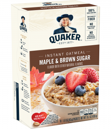 Avena Instantánea Maple Brown Sugar Quaker